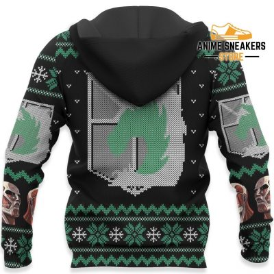 Attack On Titan Ugly Christmas Sweater Military Badged Police Xmas Gift Custom Clothes All Over