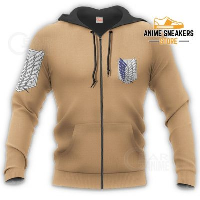 Aot Wings Of Freedom Scout Shirt Costume Attack On Titan Hoodie Sweater All Over Printed Shirts
