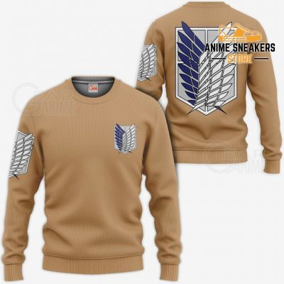 Aot Wings Of Freedom Scout Shirt Costume Attack On Titan Hoodie Sweater / S All Over Printed Shirts
