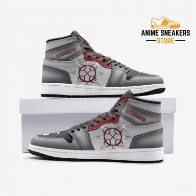 Axel Chakram Kingdom Hearts Custom J-Force Shoes 3 / White Mens