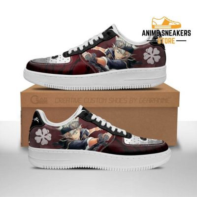 Asta Sneakers Black Bull Knight Clover Anime Shoes Men / Us6.5 Air Force