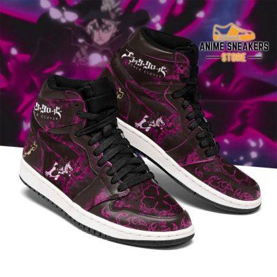 Black Asta Sneakers Custom Purple Clover Anime Jd
