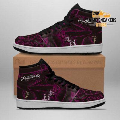Black Asta Sneakers Custom Purple Clover Anime Men / Us6.5 Jd