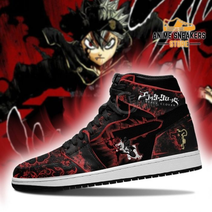 Black Asta Sword Sneakers Clover Anime Jd
