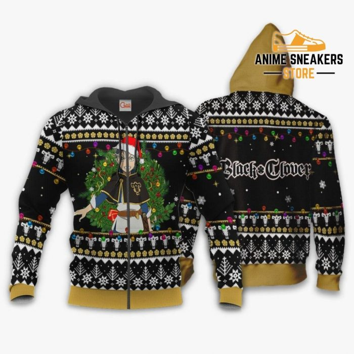 Asta Ugly Christmas Sweater Black Clover Anime Xmas Gift Va11 Zip Hoodie / S All Over Printed Shirts