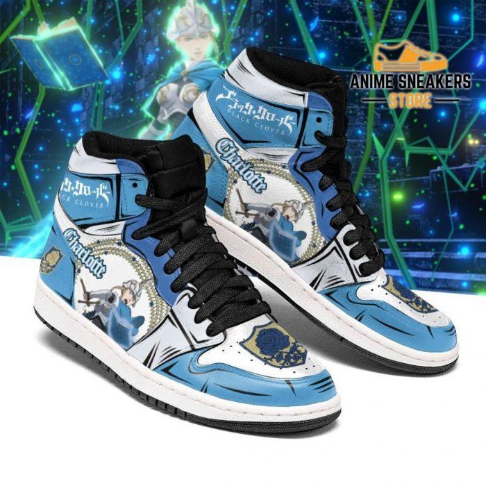 Blue Rose Charlotte Roselei Sneakers Black Clover Anime Shoes Men / Us6.5 Jd