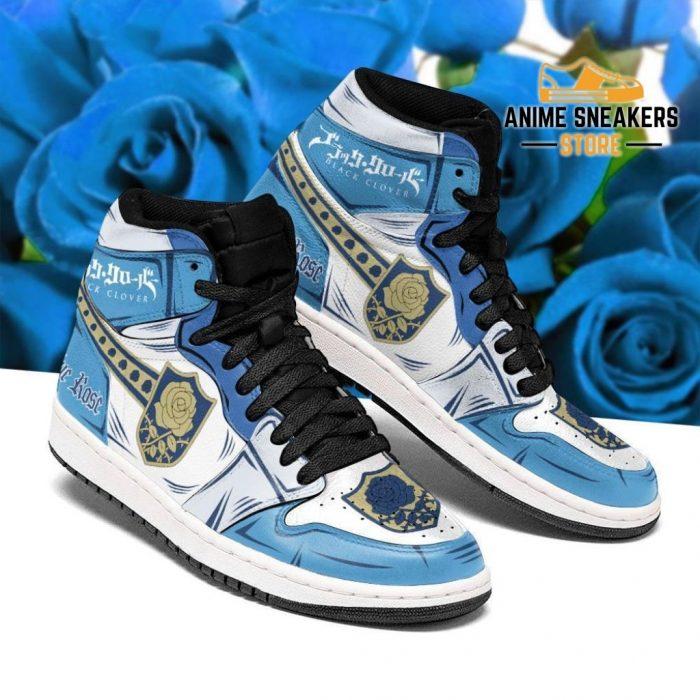 Blue Rose Magic Knight Sneakers Black Clover Anime Men / Us6.5 Jd