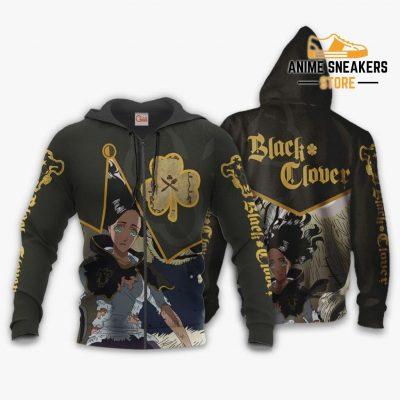 Black Bull Charmy Custom Shirt Clover Anime Jacket Va11 Zip Hoodie / S All Over Printed Shirts