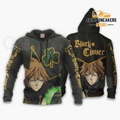 Black Bull Finral Custom Shirt Clover Anime Jacket Va11 Hoodie / S All Over Printed Shirts