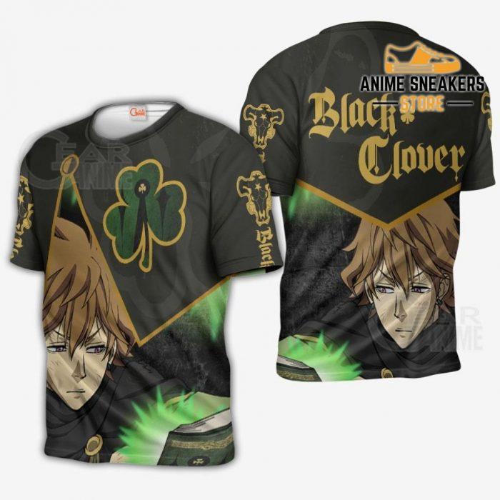 Black Bull Finral Custom Shirt Clover Anime Jacket Va11 T-Shirt / S All Over Printed Shirts