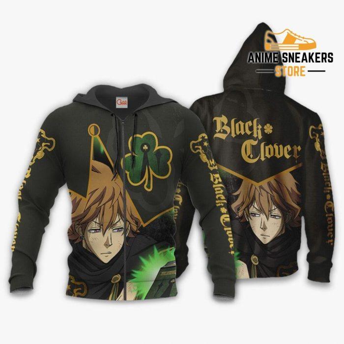 Black Bull Finral Custom Shirt Clover Anime Jacket Va11 Zip Hoodie / S All Over Printed Shirts