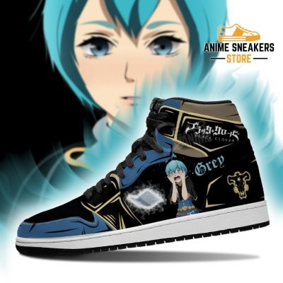 Black Bull Grey Sneakers Clover Anime Shoes Jd