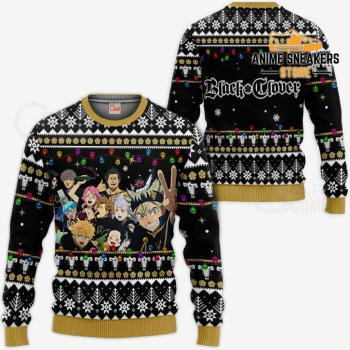 Black Bull Ugly Christmas Sweater Clover Anime Xmas Gift Va11 / S All Over Printed Shirts