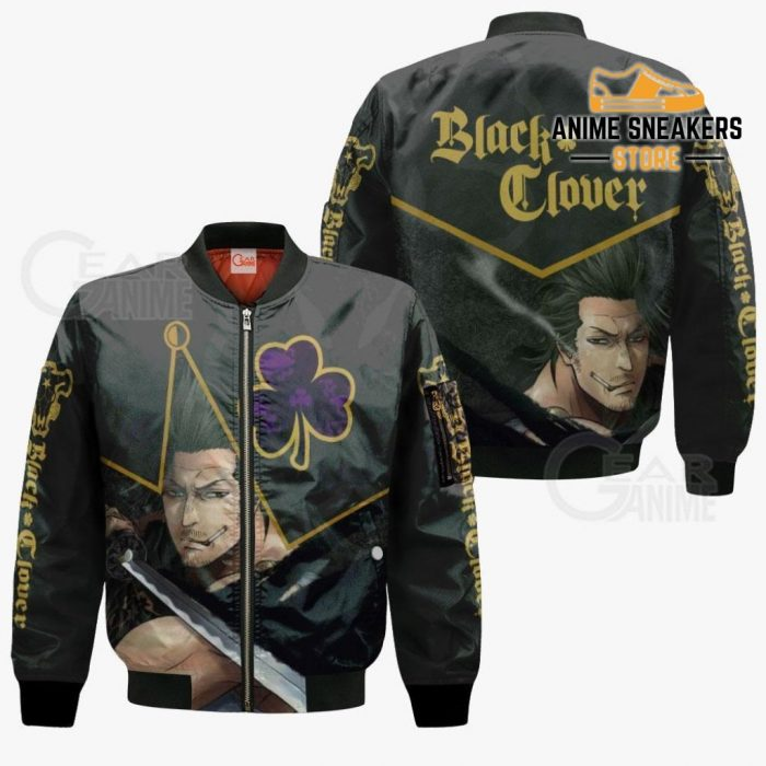 Black Bull Yami Sukehiro Custom Shirt Clover Anime Jacket Va11 Bomber / S All Over Printed Shirts