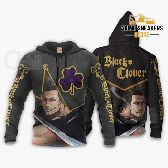 Black Bull Yami Sukehiro Custom Shirt Clover Anime Jacket Va11 Hoodie / S All Over Printed Shirts