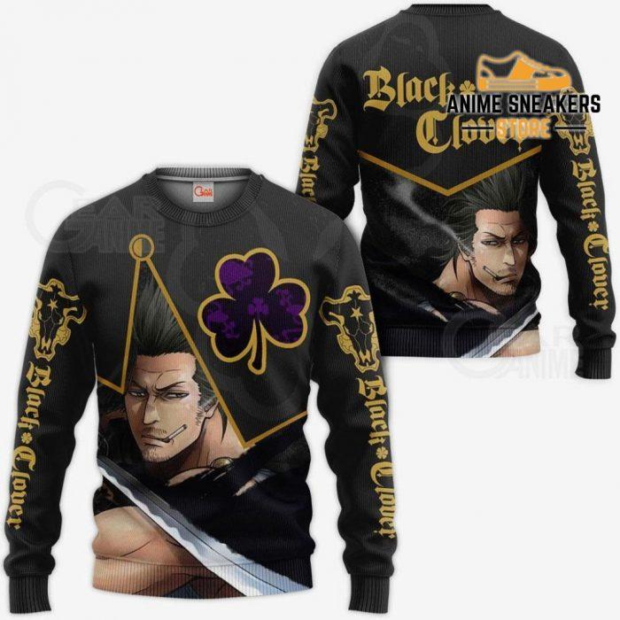 Black Bull Yami Sukehiro Custom Shirt Clover Anime Jacket Va11 Sweater / S All Over Printed Shirts