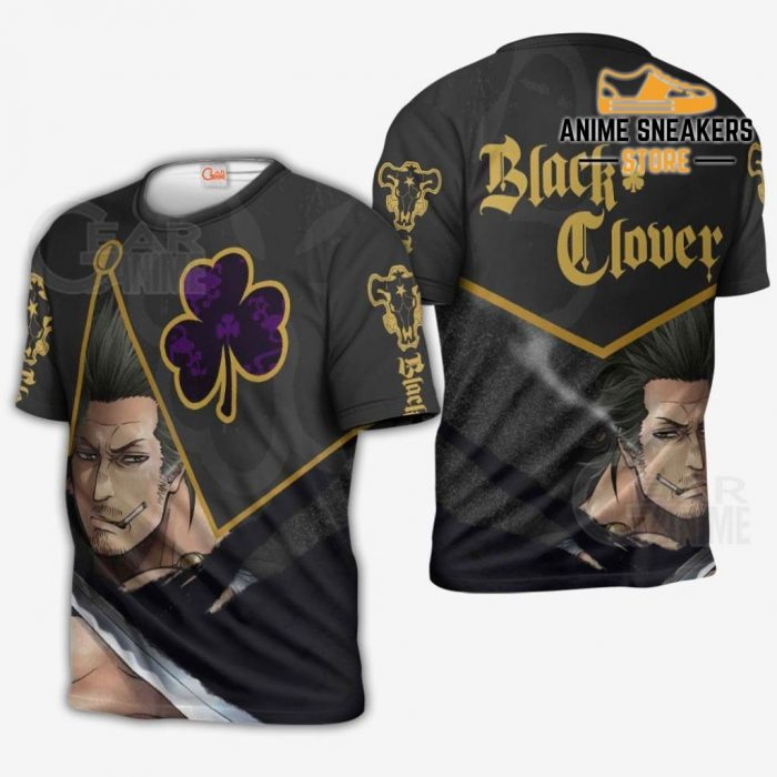 Black Bull Yami Sukehiro Custom Shirt Clover Anime Jacket Va11 T-Shirt / S All Over Printed Shirts