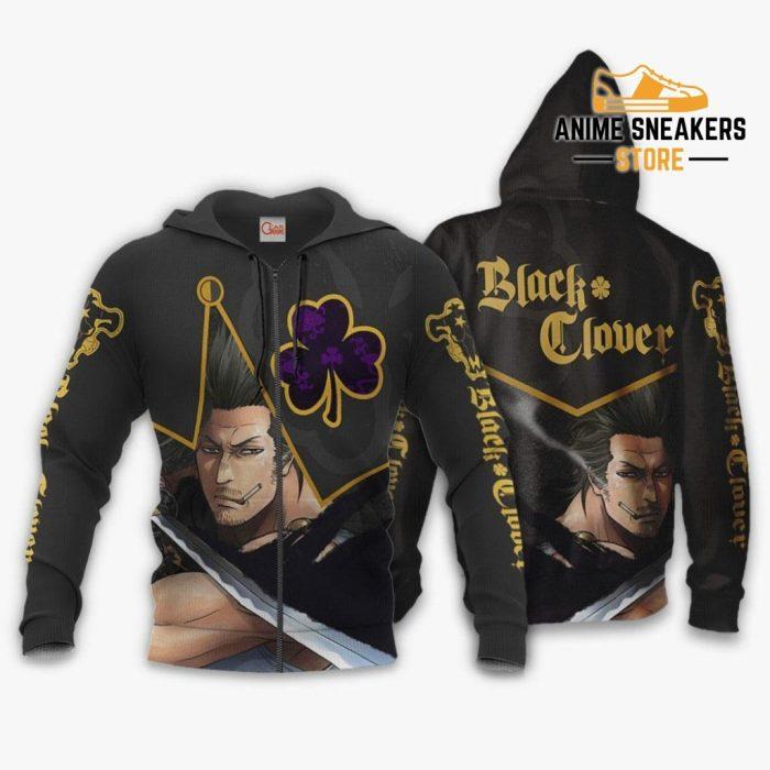 Black Bull Yami Sukehiro Custom Shirt Clover Anime Jacket Va11 Zip Hoodie / S All Over Printed