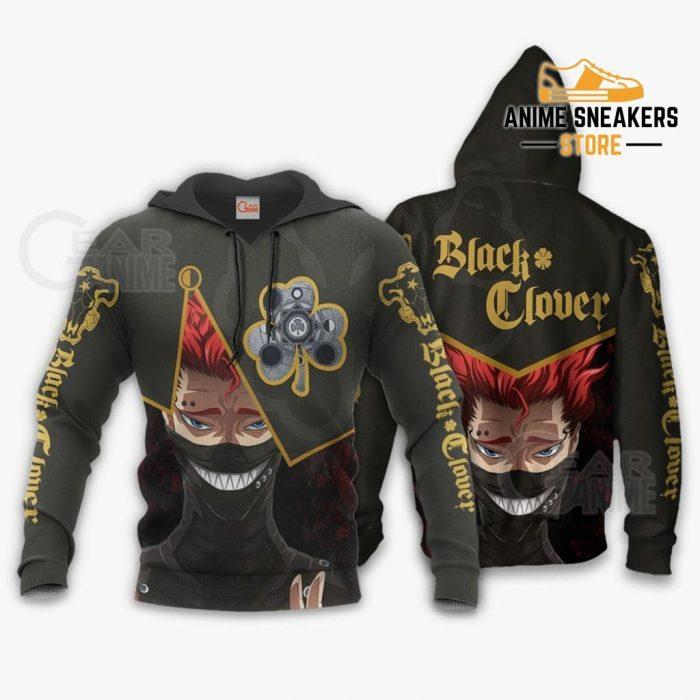 Black Bull Zora Ideale Custom Shirt Clover Anime Jacket Va11 Hoodie / S All Over Printed Shirts