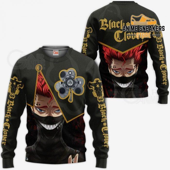 Black Bull Zora Ideale Custom Shirt Clover Anime Jacket Va11 Sweater / S All Over Printed Shirts