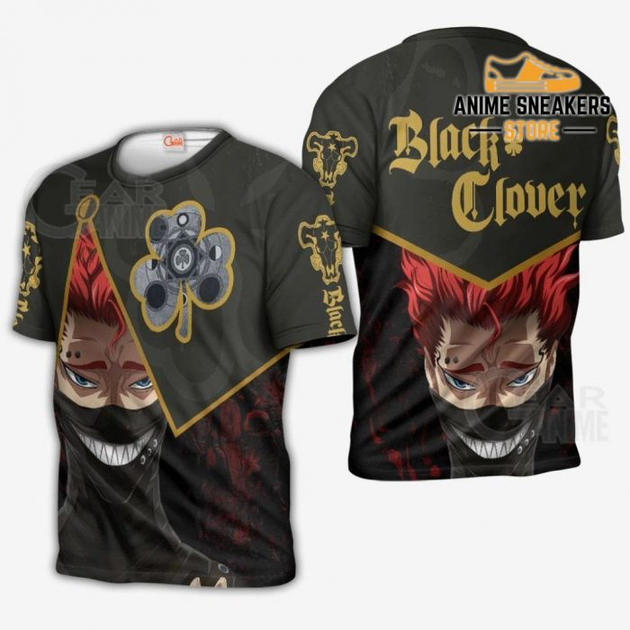 Black Bull Zora Ideale Custom Shirt Clover Anime Jacket Va11 T-Shirt / S All Over Printed Shirts
