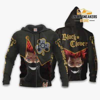 Black Bull Zora Ideale Custom Shirt Clover Anime Jacket Va11 Zip Hoodie / S All Over Printed Shirts