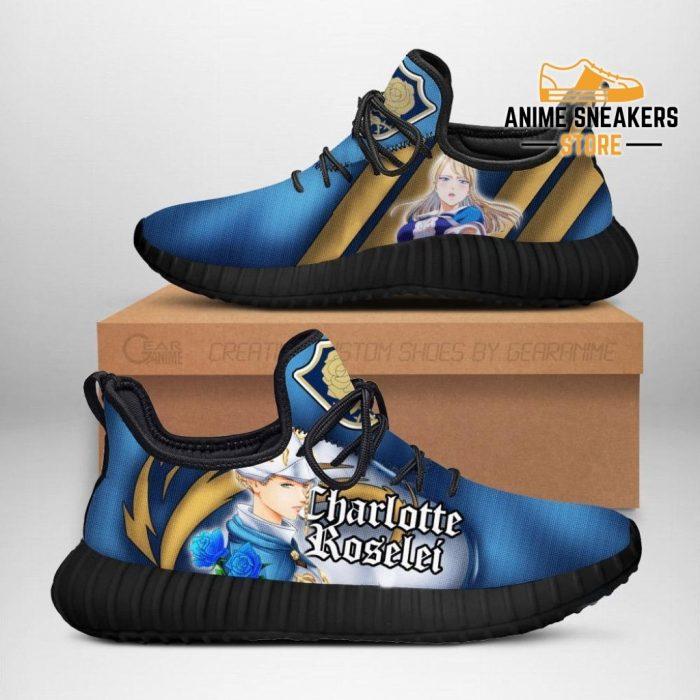 Black Clover Charlotte Reze Shoes Blue Rose Knight Anime Sneakers Men / Us6
