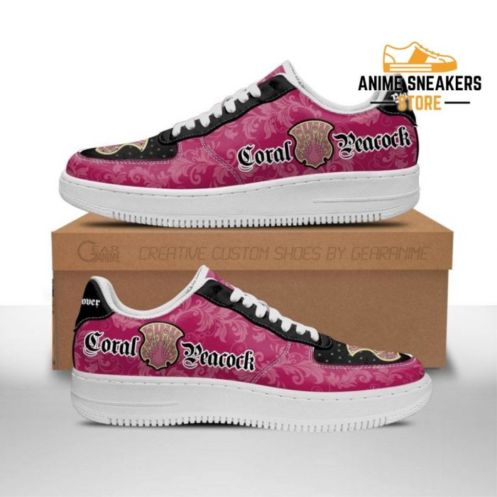Black Clover Shoes Magic Knights Squad Coral Peacock Sneakers Anime Men / Us6.5 Air Force