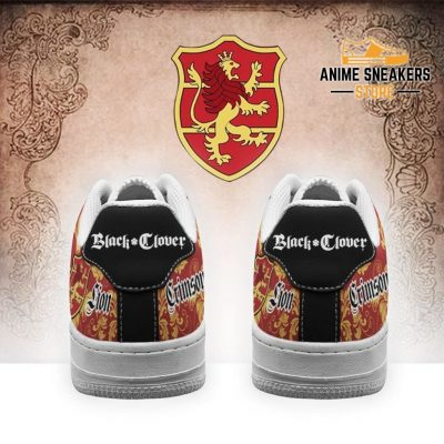 Black Clover Shoes Magic Knights Squad Crimson Lion Sneakers Anime Air Force