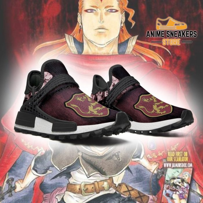 Crimson Lion Shoes Magic Knight Black Clover Anime Sneakers Nmd