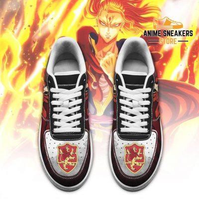 Fuegoleon Vermillion Sneakers Crimson Lion Knight Black Clover Anime Shoes Air Force