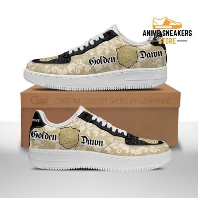 Black Clover Shoes Magic Knights Squad Golden Dawn Sneakers Anime Men / Us6.5 Air Force