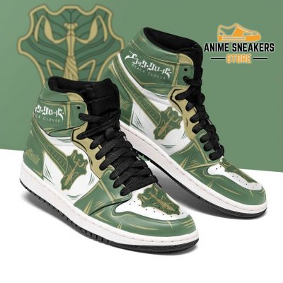Green Mantis Magic Knight Sneakers Black Clover Anime Men / Us6.5 Jd