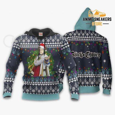 Julius Novachrono Ugly Christmas Sweater Black Clover Anime Gift Va11 Hoodie / S All Over Printed
