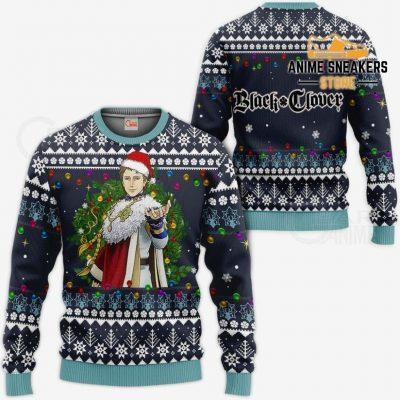 Julius Novachrono Ugly Christmas Sweater Black Clover Anime Gift Va11 / S All Over Printed Shirts
