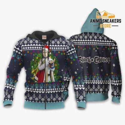 Julius Novachrono Ugly Christmas Sweater Black Clover Anime Gift Va11 Zip Hoodie / S All Over