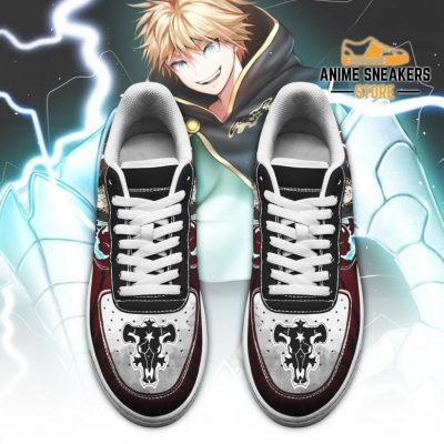 Luck Voltia Sneakers Black Bull Knight Clover Anime Shoes Air Force