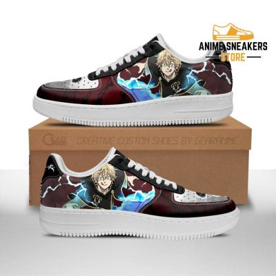 Luck Voltia Sneakers Black Bull Knight Clover Anime Shoes Men / Us6.5 Air Force