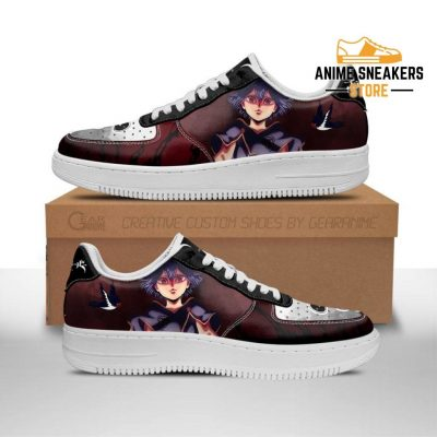 Nero Sneakers Black Bull Knight Clover Anime Shoes Men / Us6.5 Air Force