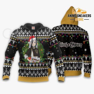 Noelle Silva Ugly Christmas Sweater Black Clover Anime Xmas Gift Va11 Hoodie / S All Over Printed