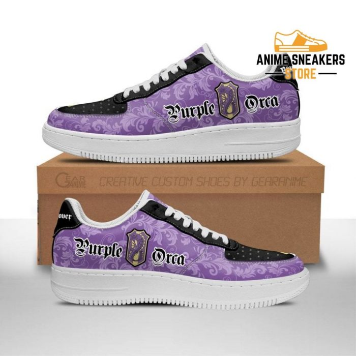 Black Clover Shoes Magic Knights Squad Purple Orca Sneakers Anime Men / Us6.5 Air Force