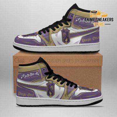 Purple Orca Magic Knight Sneakers Black Clover Anime Jd