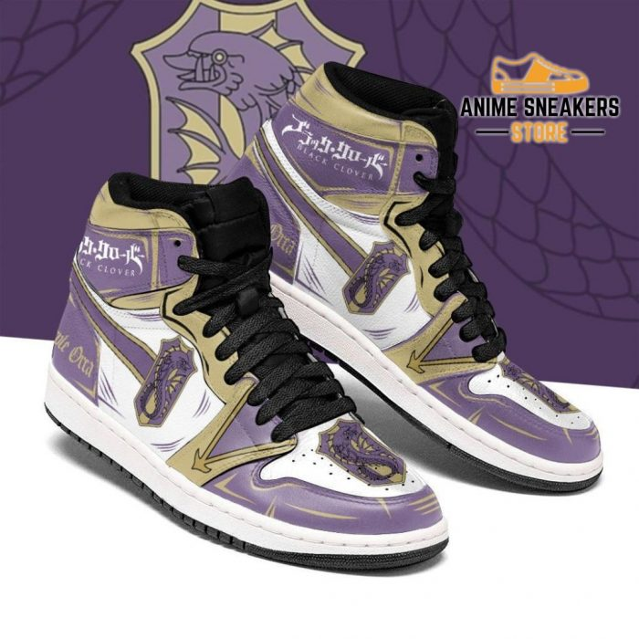 Purple Orca Magic Knight Sneakers Black Clover Anime Men / Us6.5 Jd