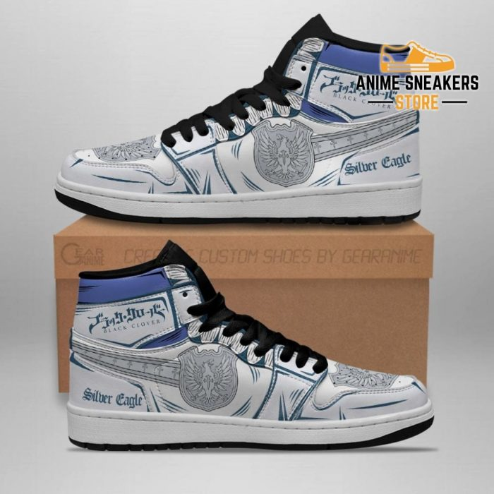 Silver Eagle Magic Knight Sneakers Black Clover Anime Jd