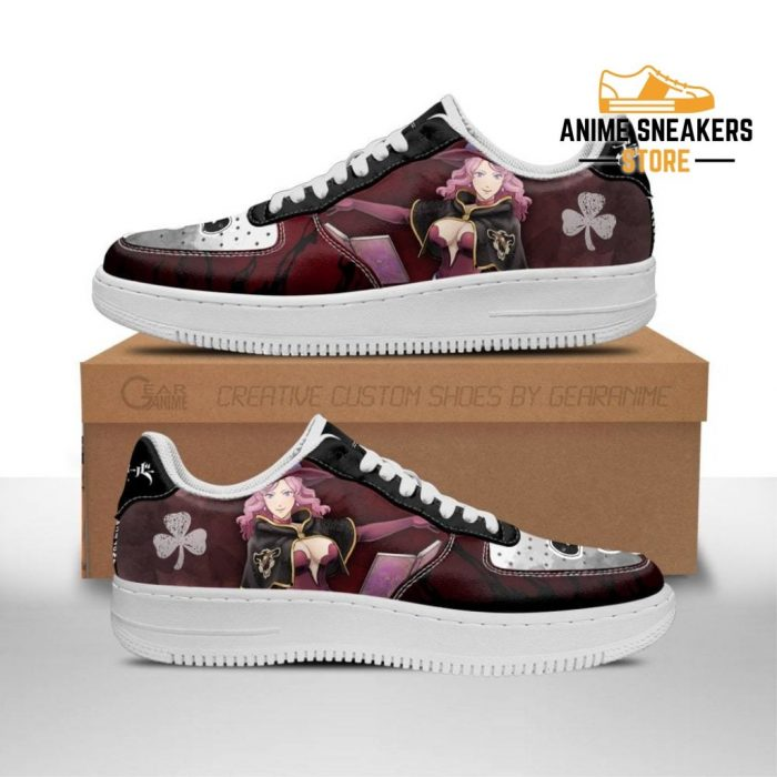 Vanessa Enoteca Sneakers Black Bull Knight Clover Anime Shoes Men / Us6.5 Air Force