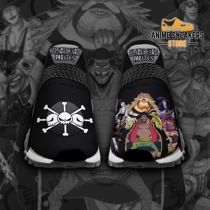 Blackbeard Pirates Shoes One Piece Custom Anime Tt12 Men / Us6 Nmd