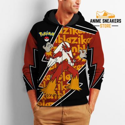 Blaziken Zip Hoodie Costume Pokemon Shirt Fan Gift Idea Va06 All Over Printed Shirts