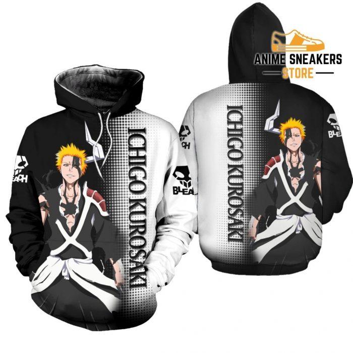 Bleach Ichigo Shirt Costume Anime Hoodie Sweater / S All Over Printed Shirts