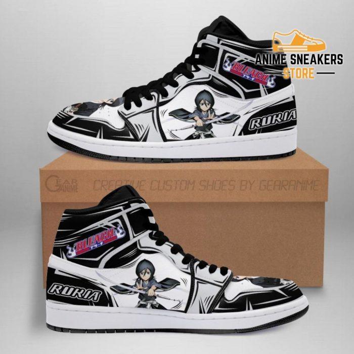 Bleach Rukia Anime Sneakers Fan Gift Idea Mn05 Men / Us6.5 Jd
