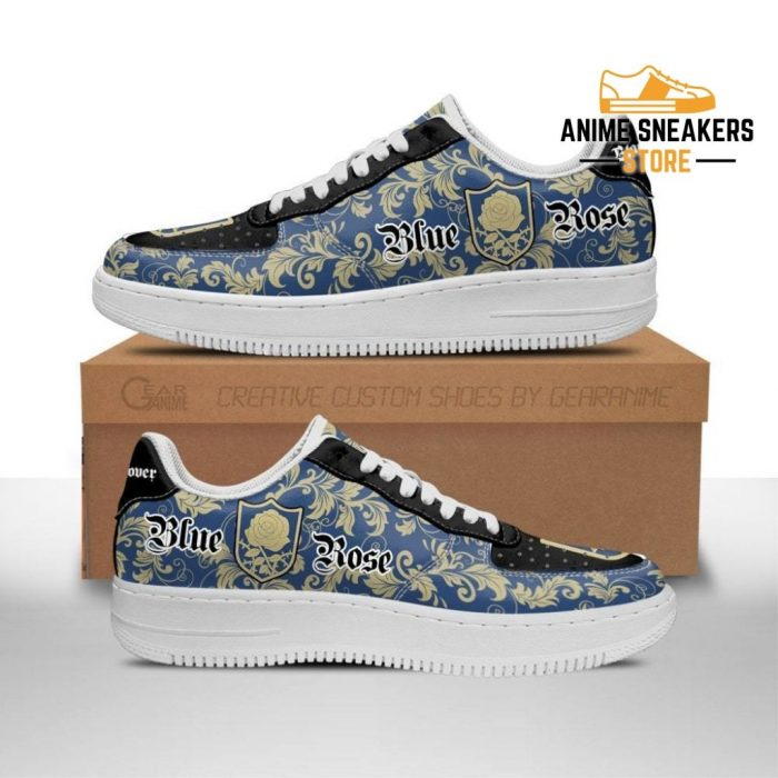 Black Clover Shoes Magic Knights Squad Blue Rose Sneakers Anime Men / Us6.5 Air Force